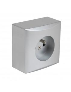 Debflex Emeraude Prise 2P+T Aluminium