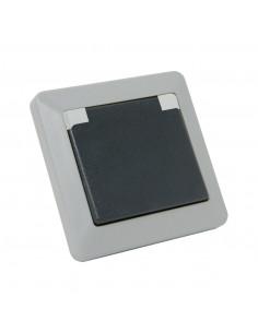 Debflex Opaline Prise 2P+T IP44 Gris