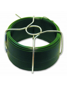 Fil acier plastifié d1,4 mm l30 m Vert