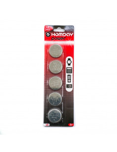 Piles boutons lithium CR2430 x5