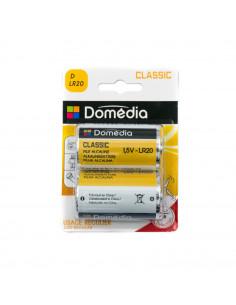 DOMEDIA Pile alcaline classic D LR20 x2