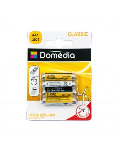 DOMEDIA Pile alcaline classic AAA LR03 x4
