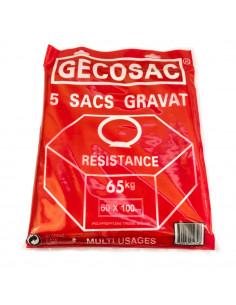 GECOSAC Sac à gravats x5 65kg 60x100cm