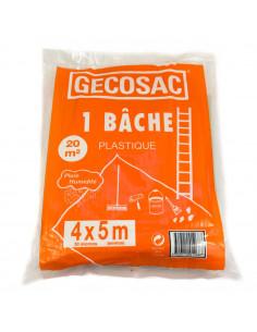 GECOSAC Bâche de protection 4x5m 50microns