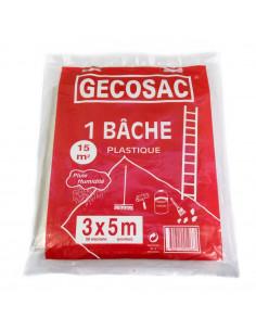 GECOSAC Bâche de protection 3x5m 50microns