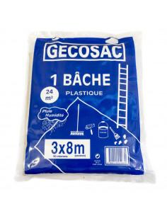GECOSAC Bâche de protection 3x8m 50microns