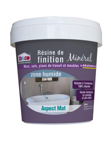 Resinence r sine de finition min ral mat zone humide 300ml hyper brico - Resine epoxy resinence ...