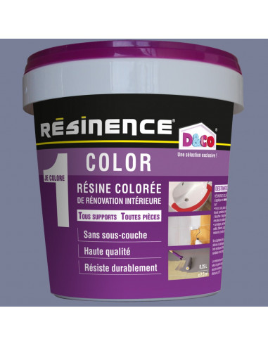 Resinence Color Résine Colorée Rénovation Gris Lunaire 500ml Hyper Brico