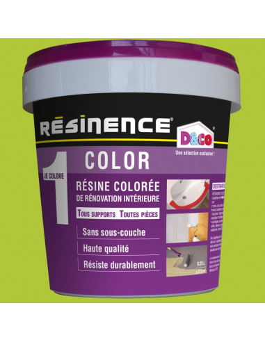 Resinence Color Résine Colorée Rénovation Wasabi 250ml Hyper Brico