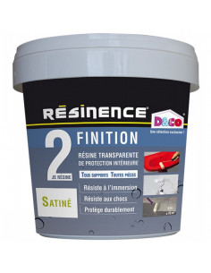 RESINENCE Finition Résine Transparente de Protection Satinée 500ml