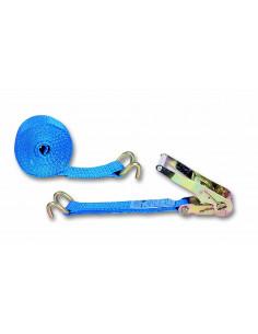 CHAPUIS Sangle polyester arrimage tendeur cliquet bleu L6m 50mm 2Tonnes
