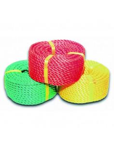 CHAPUIS Corde polypropylène torsadée coloris assortis L20m d6mm