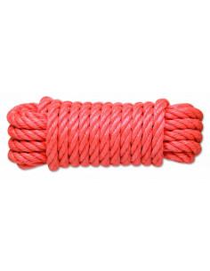 CHAPUIS Corde polypropylène torsadée corail 3T d14mm L15 m