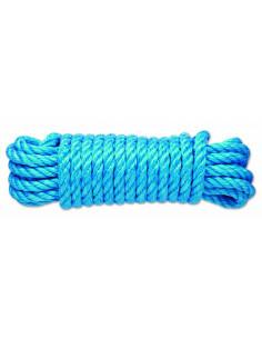 CHAPUIS Corde polypropylène torsadée 2.2T d12mm L7.50m Bleu