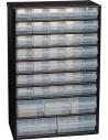 RAACO Casier métal 40 tiroirs noir 465x306x150mm