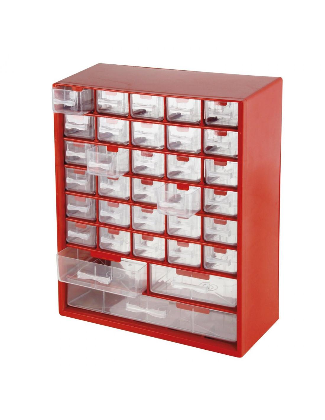 cogex casier rangement plastique 33 tiroirs 290 x 340 x 125 mm hyper brico. Black Bedroom Furniture Sets. Home Design Ideas