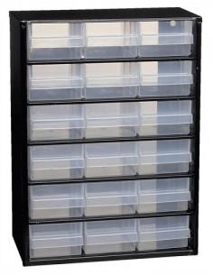 RAACO Casier de rangement 18 tiroirs métal 420 x 307 x 146 mm