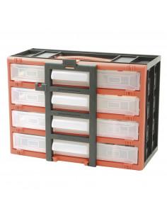 COGEX Casier de rangement 4 tiroirs + poignée 320 x 160 x 230 mm
