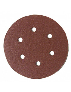 LEMAN Disques velcro perforés 6 trous d150 assortiment grain 40/80/120 x8