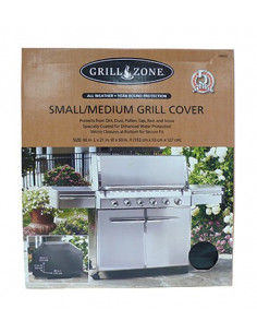 GRILL ZONE Bâche pour barbecue small/medium 134x48x114cm