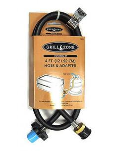 GRILL ZONE Tuyau propane 1,20m pour barbecue et adaptateur pour bouteille de gaz