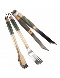 GRILL ZONE Set 3 accessoires pour barbecue en bois