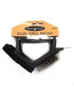 GRILL ZONE Brosse + éponge pour barbecue 17cm