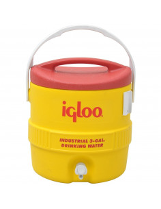 IGLOO Glacière jaune/rouge industriel 10L 3gallon