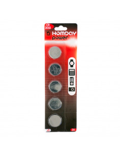 HOMDAY Piles boutons lithium CR2032 x5