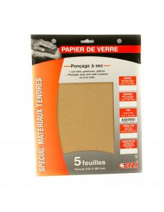 OCAI Pochette 5 feuilles papier de verre grain fin