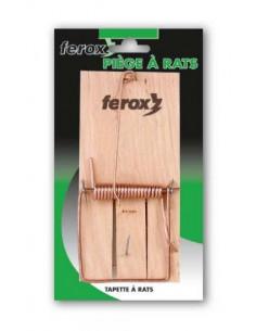 FEROX Piège à rats tapette bois