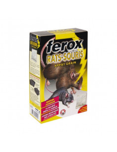 FEROX Appât grain rats et souris 16x25g
