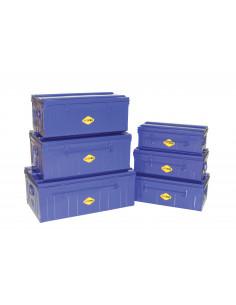 AITOPRO Cantine métal bleu 700 x 370 x 290 mm 75 L