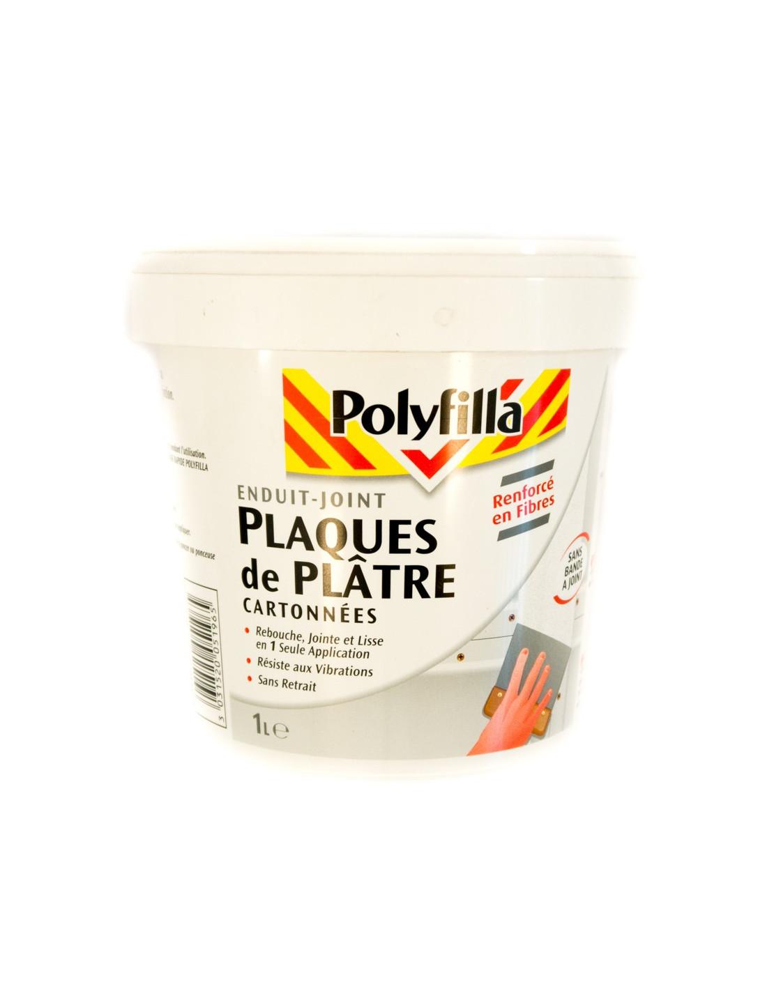 Enduit Souple Pour Bois polyfilla poly enduit placo pâte 1l