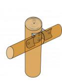 SIMPSON Connecteur bois rond d.80 a 120