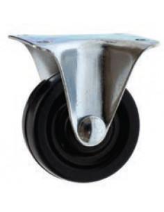 NORAIL Roulette à platine caoutchouc noir fixe d40mm