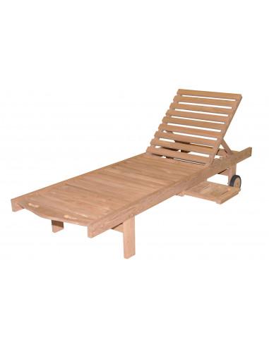Transat avec plateau en bois hyper brico for Mobilier jardin transat