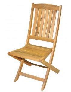 Chaise acacia harley pliante