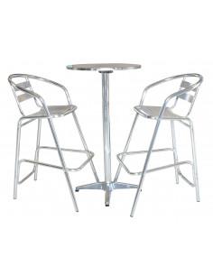 Table bar pliable alu +2 tabou