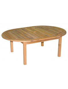 Table acacia 120x80x42cm coffee