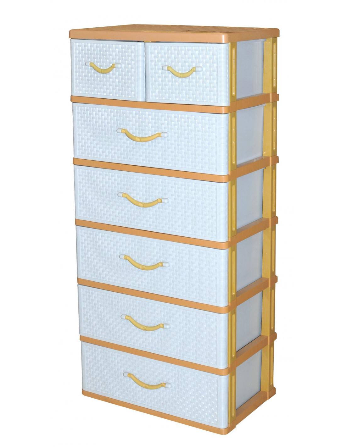 commode 7 tiroirs hyper brico. Black Bedroom Furniture Sets. Home Design Ideas