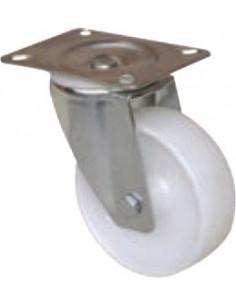 NORAIL Roulette manutention nylon blanc pivotante d100mm