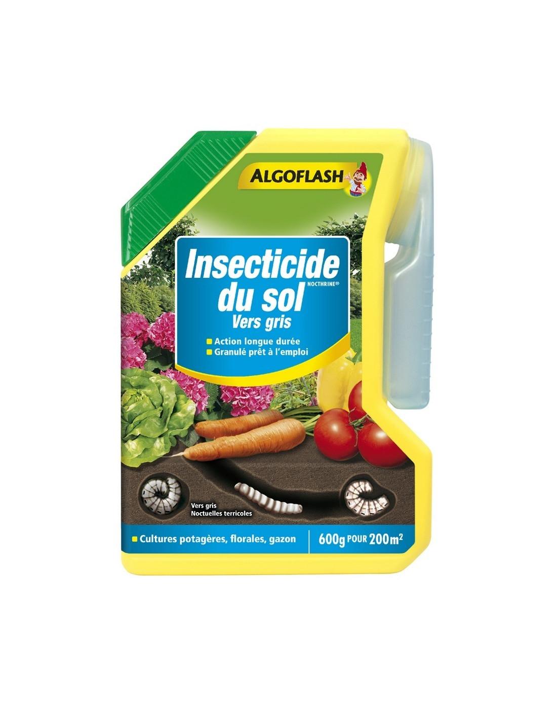 Algoflash naturasol insecticide du sol 600g hyper brico for Traitement vers du sol