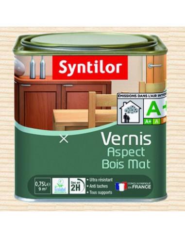 Syntilor vernis aspect bois mat aqua incolore hyper brico - Vernis bois incolore ...