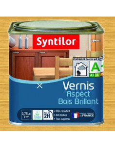 SYNTILOR Vernis aspect bois brillant chene clair 0.75L