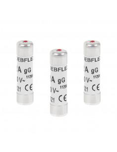 DEBFLEX 3 Fusibles avec voyant 8,5 x 31,5 10 A 380 V