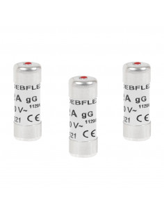 DEBFLEX 3 Fusibles avec voyant 8,5 x 23 10 A 250 V