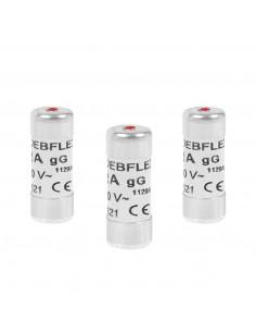 DEBFLEX 3 Fusibles avec voyant 10.3 x 25.8 mm 10 A, 250 V