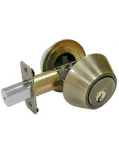 TRU GUARD Serrure de porte tg-ab dbl cylindre