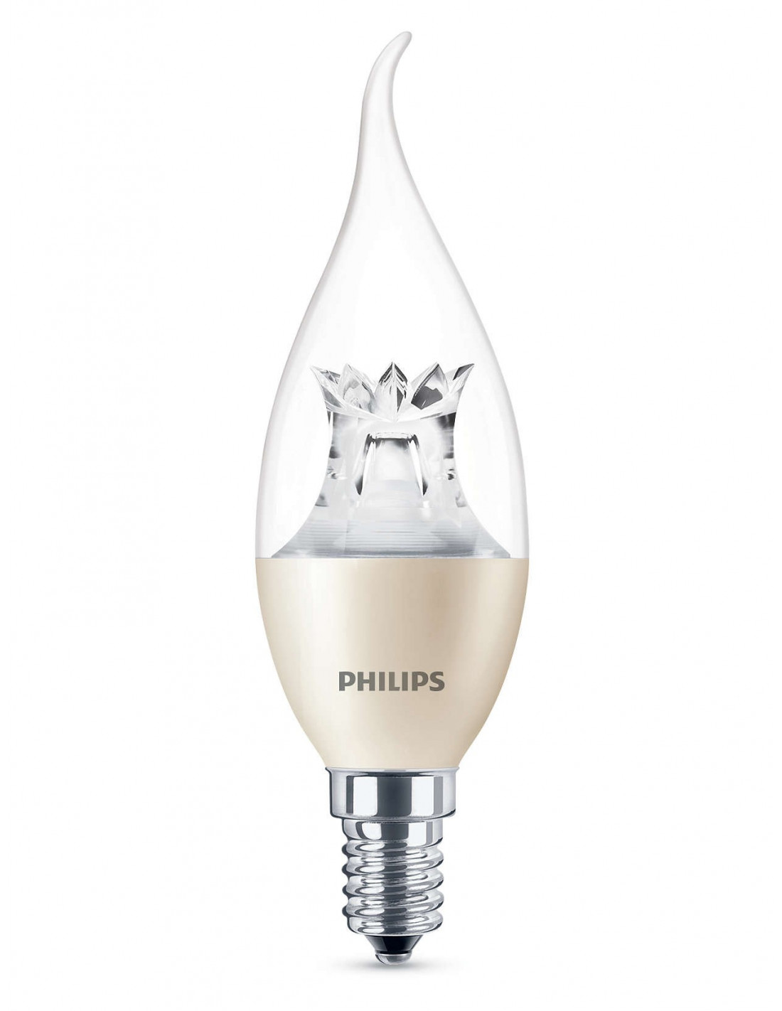 philips ampoule led flamme 4w 25w e14 lumi re chaleureuse intensit variable hyper brico. Black Bedroom Furniture Sets. Home Design Ideas
